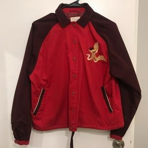 UO / Silence + Noise Embroidered Dragon Jacket